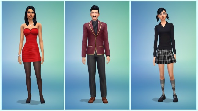 The Sims 4 Goth Family