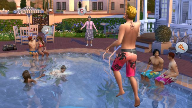 The Sims 4 Pool party