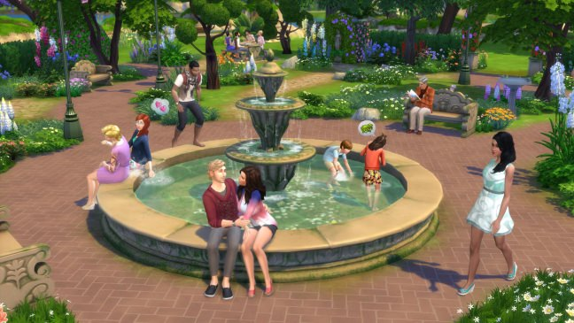 The Sims 4 Romantic Garden Stuff fountain